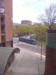 Utsikt från andra våningen på väg upp till Jensen gymnasium
