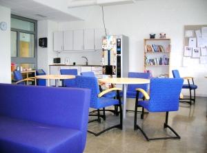 Uppehållsrum för eleverna