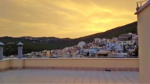 Solnedgång - färgen motsvarar verkligheten
